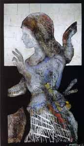 Foto 1: Angel. Nueva York, 1994.Xilografía